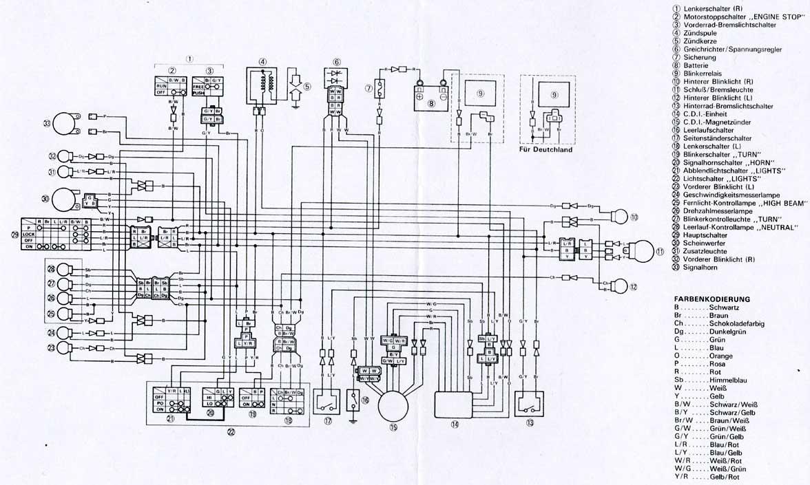 Schema Elettrico Xt 600 3tb : Bedradingsschemas
